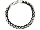 Chisel Stainless Steel Polished and Black Ip-plated 8.25in Bracelet style: SRB1090825