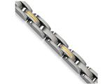 Chisel Stainless Steel 14k Yellow Inlay 8in Bracelet style: SRB1168
