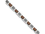 Chisel Stainless Steel Orange And Black Rubber Polished Bracelet style: SRB121685