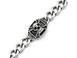 Chisel Stainless Steel Polished Skull Bracelet style: SRB12399