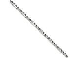 Chisel Stainless Steel Polished 4mm Figaro Bracelet style: SRB126785