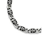 Chisel Stainless Steel Polished/antiqued Fleur De Lis Bracelet style: SRB1270875