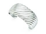 Chisel Stainless Steel Polished Cuff Bangle style: SRB1296