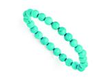 Chisel Dyed Howlite Turquoise Color Stretch Bracelet style: SRB1306
