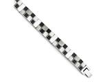 Chisel Stainless Steel Antiqued Brushed And Polished Bracelet style: SRB1320825
