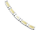 Chisel Stainless Steel Yellow Ip-plated Link Polished Dad Bracelet style: SRB1321875
