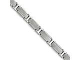 Chisel Stainless Steel Polished And Textured Bracelet style: SRB140085