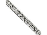 Chisel Stainless Steel Brushed And Antiqued Cross Bracelet style: SRB140185