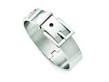 Chisel Stainless Steel Polished Hinged Buckle Bangle style: SRB1406
