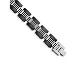 Chisel Stainless Steel Brushed And Polished Black Ip-plated Bracelet style: SRB14228