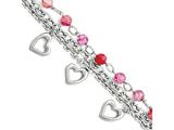 Chisel Stainless Steel Pink Agate W/hearts Bracelet style: SRB1448775