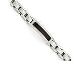 Chisel Stainless Steel Polished/brushed Black Wood Enameled Bracelet style: SRB149685