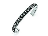 Chisel Stainless Steel Polished/antiqued Skull Cuff Bangle style: SRB1577