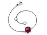 Chisel Stainless Steel Polished Maroon Glass W/1in Ext Bracelet style: SRB16027