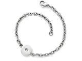 Chisel Stainless Steel Polished Crystal Bracelet style: SRB1611775