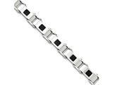 Chisel Stainless Steel Polished Black Ip-plated Bracelet style: SRB161885