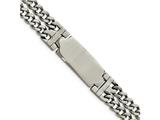 <b>Engravable</b> Chisel Stainless Steel Polished Adjustable 7.75 With 1/2 Inch Ext.  Id Bracelet style: SRB1632775