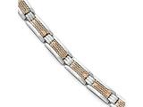 Chisel Stainless Steel Polished Rose Ip-plated Bracelet style: SRB164185