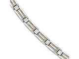 Chisel Stainless Steel Polished Rose Ip-plated Bracelet style: SRB164285