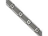 Chisel Stainless Steel Antiqued Brushed Cz Bracelet style: SRB1651825