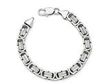 Chisel Stainless Steel Polished And Textured Bracelet style: SRB1675825