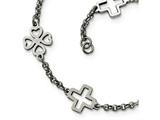 Chisel Stainless Steel Cross and Clovers Bracelet style: SRB169475
