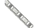 Chisel Stainless Steel Polished and Brushed Cable and Screw Bracelet style: SRB1727825