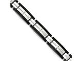Chisel Stainless Steel Polished Black Ip-plated 8.5 In. Bracelet style: SRB174785