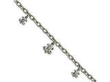 Chisel Stainless Steel Polished Fleur De Lis W/ 3 Inch Ext Bracelet style: SRB17707