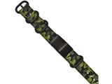Chisel Stainless Steel Brushed Blk Ip Green Camo Fabric Adjustable Id Bracelet style: SRB1777
