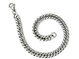 Chisel Stainless Steel Polished 9in Double Curb Chain Bracelet style: SRB19679