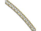 Chisel Stainless Steel Polished Yellow Ip CZ 8.50in Link Bracelet style: SRB200885