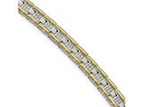 Chisel Stainless Steel Polished Yellow Ip CZ 8.50in Link Bracelet style: SRB200985