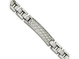 Chisel Stainless Steel Brushed And Polished Weaved Pattern Id Bracelet style: SRB202885