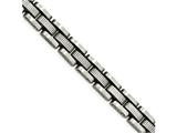 Chisel Stainless Steel Brushed Textured Black Ip W/.50in Ext. Link Bracelet style: SRB204885