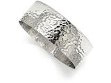 Chisel Stainless Steel Polished Hammered Bangle style: SRB2078