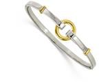 Chisel Stainless Steel Polished Yellow Ip-plated Bangle style: SRB2086