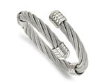 Chisel Stainless Steel Polished Adjustable Twist Wire Cuff Bangle style: SRB2096