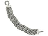 Chisel Stainless Steel Polished Braided With 1.25in Ext. Bracelet style: SRB21127