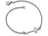 Chisel Stainless Steel Polished W/ Key Bracelet style: SRB211875