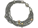 Chisel Stainless Steel Rose And Yellow Ip-plated Mesh Bracelet style: SRB2128775
