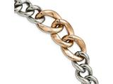 Chisel Stainless Steel Polished Rose Ip Plated 7.5inch  Bracelet style: SRB213975