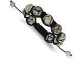 Chisel Dyed Agate Adjustable Macramé Bracelet style: SRB2147