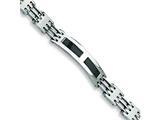 <b>Engravable</b> Chisel Stainless Steel Carbon Fiber ID Bracelet style: SRB226