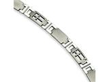 Chisel Stainless Steel Cross 8.5in Bracelet style: SRB28285