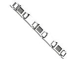 Chisel Stainless Steel Wire Polished 8.5in Bracelet style: SRB44285