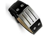 Chisel Stainless Steel Genuine Leather Adjustable Buckle Bracelet style: SRB498875