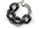 Chisel Stainless Steel Black Ceramic Link Bracelet style: SRB5638