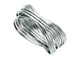 Chisel Stainless Steel Intertwined Bangle Bracelet style: SRB610