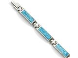 Chisel Stainless Steel Blue Enamel 7.25in Bracelet style: SRB717725